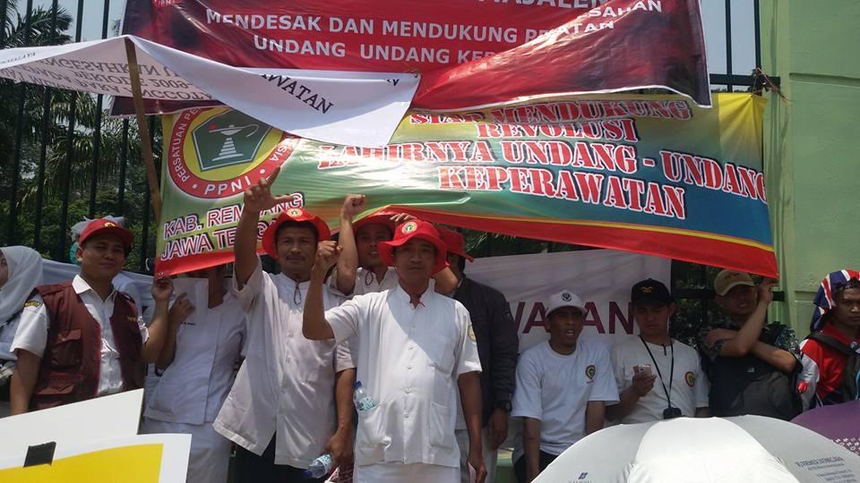 Dukungan Perawat Indonesia untuk pengesahan RUUK | Foto by Harissa Laraswati